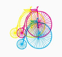 Colourful penny farthings Unisex T-Shirt