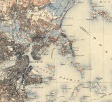 Vintage Boston Topographic Map (1900) Sticker