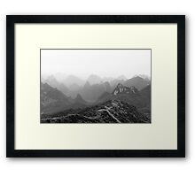 Mountains of Guilin Framed Print