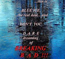 Blue Ice Breaking Bad iPhone case by ivDAnu