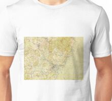 Vintage Portsmouth NH Topographic Map (1917) Unisex T-Shirt