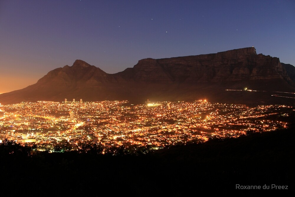 Cape Town City Lights by Roxanne du Preez