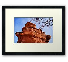 Balanced Rock and Tree Framed Print