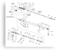 FX2000 air rifle schematic Canvas Print
