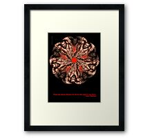 MANFLOWER 2 CARD Framed Print