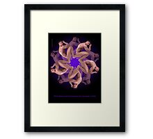 MANFLOWER 1 CARD Framed Print