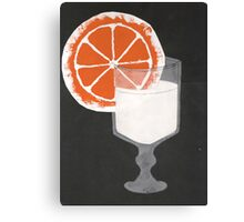 Milk and Orange Canvas Print