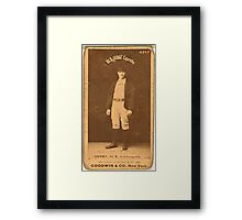 Benjamin K Edwards Collection Jerry Denny Indianapolis Hoosiers baseball card portrait 001 Framed Print