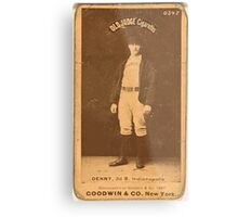 Benjamin K Edwards Collection Jerry Denny Indianapolis Hoosiers baseball card portrait 001 Metal Print