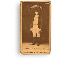 Benjamin K Edwards Collection Jerry Denny Indianapolis Hoosiers baseball card portrait 001 Canvas Print