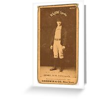 Benjamin K Edwards Collection Jerry Denny Indianapolis Hoosiers baseball card portrait 001 Greeting Card