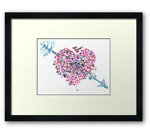Abstract Pattern Valentine Framed Print