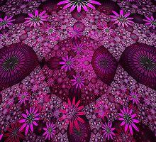 Pink Flower Meadows by Beatriz  Cruz