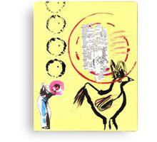 Bigger surfaces demand bigger circles Canvas Print