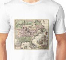 Vintage Map of America (1720) Unisex T-Shirt