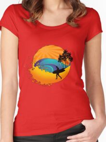 Summers surf Women's Fitted Scoop T-Shirt