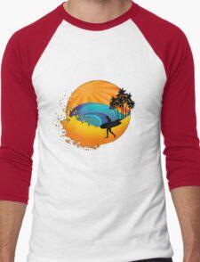 Summers surf Men's Baseball ¾ T-Shirt
