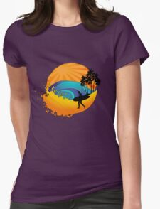 Summers surf Womens Fitted T-Shirt