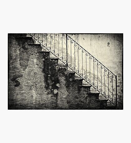 Stairs on a rainy day Photographic Print