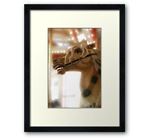 Carousel horse, digital artwork. Framed Print