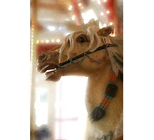 Carousel horse, digital artwork. Photographic Print