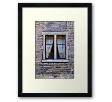 Edinburgh tenement window detail Framed Print