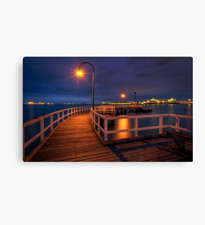 Lagoon Pier Canvas Print