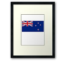 New Zealand, New Zealand Flag, Flag of New Zealand, Pure & Simple Framed Print