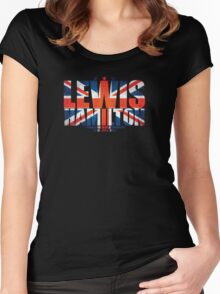 Lewis Hamilton - World Champion Women's Fitted Scoop T-Shirt