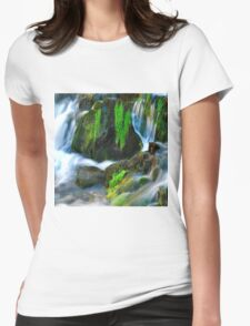 Willow River Falls 6 Womens Fitted T-Shirt
