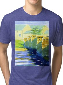 Sheep Bridge, Derbyshire Tri-blend T-Shirt