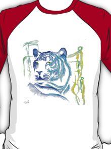 White Tiger Ink Drawing T-Shirt