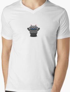Robot Attack Mens V-Neck T-Shirt