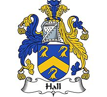 Hall Coat of Arms / Hall Family Crest Photographic Print