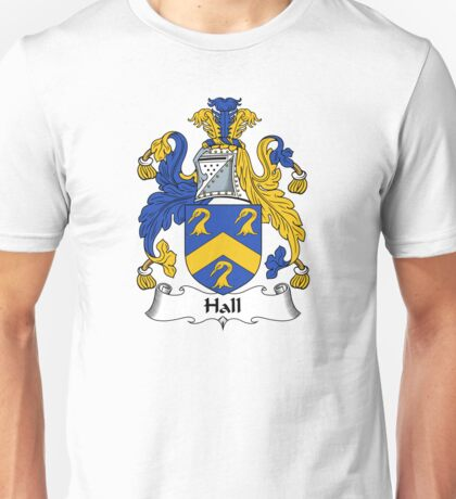 Hall Coat of Arms / Hall Family Crest Unisex T-Shirt