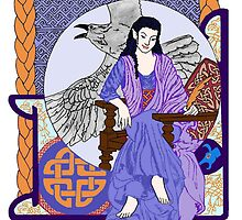 Cobalt Celtic Corbie Queen by redqueenself