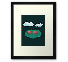 HEARTS IN THE CLOUDS Framed Print