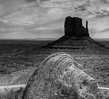 East Mitten Monument Valley by Paul Barnett