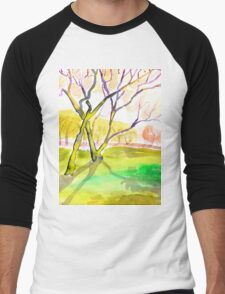 Sunny Glade, Goyt Valley, Derbyshire Men's Baseball ¾ T-Shirt