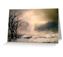Winter Afternoon... Greeting Card