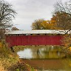 Sam Wagner Covered Bridge From Creek Road by Gene Walls