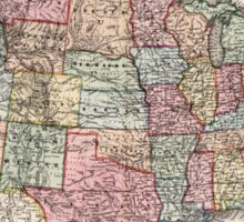 Vintage United States Map (1860) Sticker