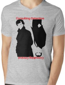 Consulting Detective, Consulting Criminal #2 Mens V-Neck T-Shirt