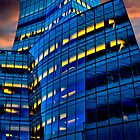 Frank Gehry's IAC Building At Dusk by Chris Lord