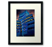 Frank Gehry's IAC Building At Dusk Framed Print