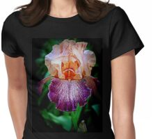 Vibrant Iris Flower Womens Fitted T-Shirt
