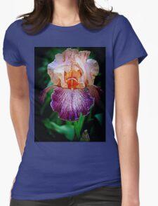 Vibrant Iris Flower Womens Fitted T-Shirt