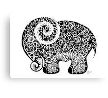 Elephant Doodle Canvas Print