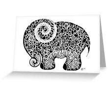 Elephant Doodle Greeting Card