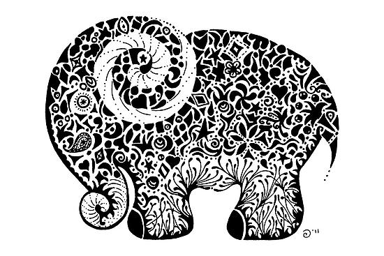 Elephant Doodle by Jacqueline Eden